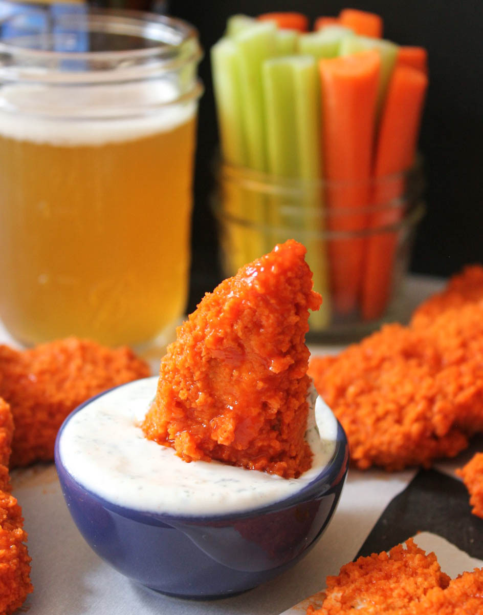 "Healthy Buffalo Chicken Tenders  The Dude Diet Buffalo Chicken ""Fingie"" Edition"
