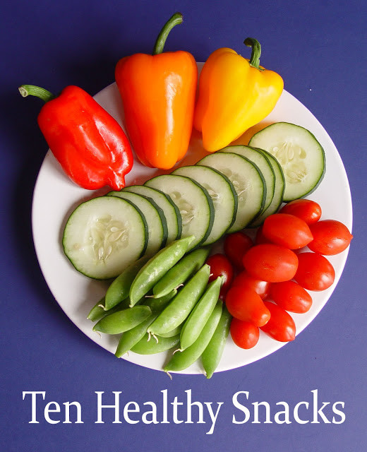 Healthy But Good Snacks  Ten Healthy Snacks with Printable Page