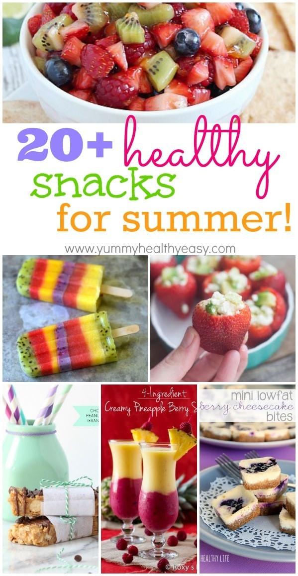 Healthy But Yummy Snacks  20 Healthy Summertime Snacks Yummy Healthy Easy