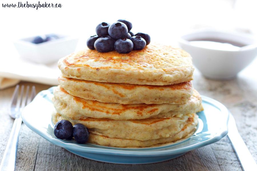 Healthy Buttermilk Pancakes  Healthy Buttermilk Pancakes The Busy Baker