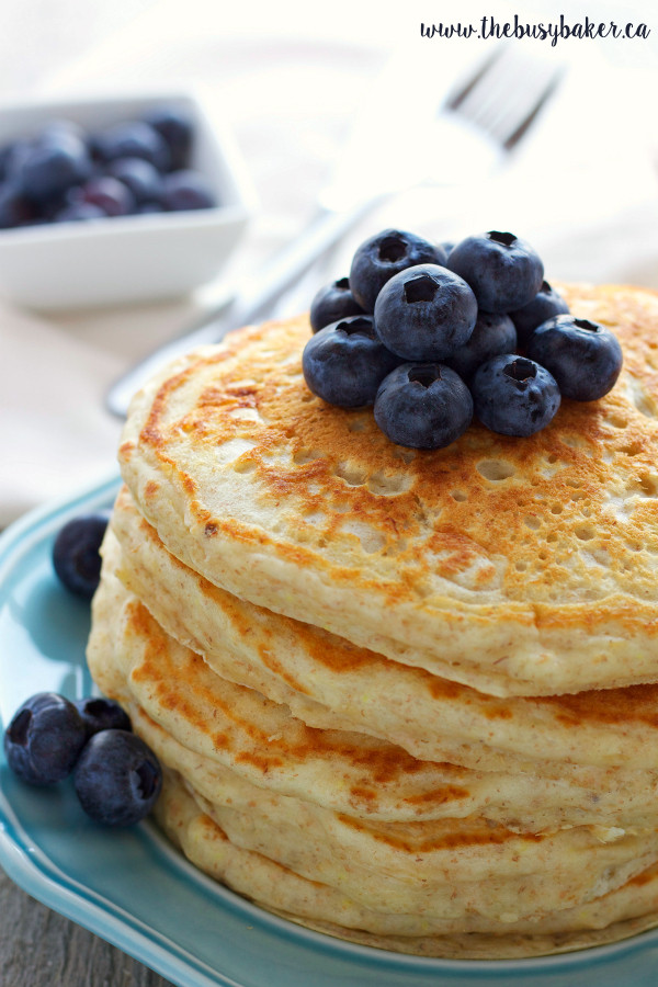 Healthy Buttermilk Pancakes  healthy fluffy buttermilk pancakes