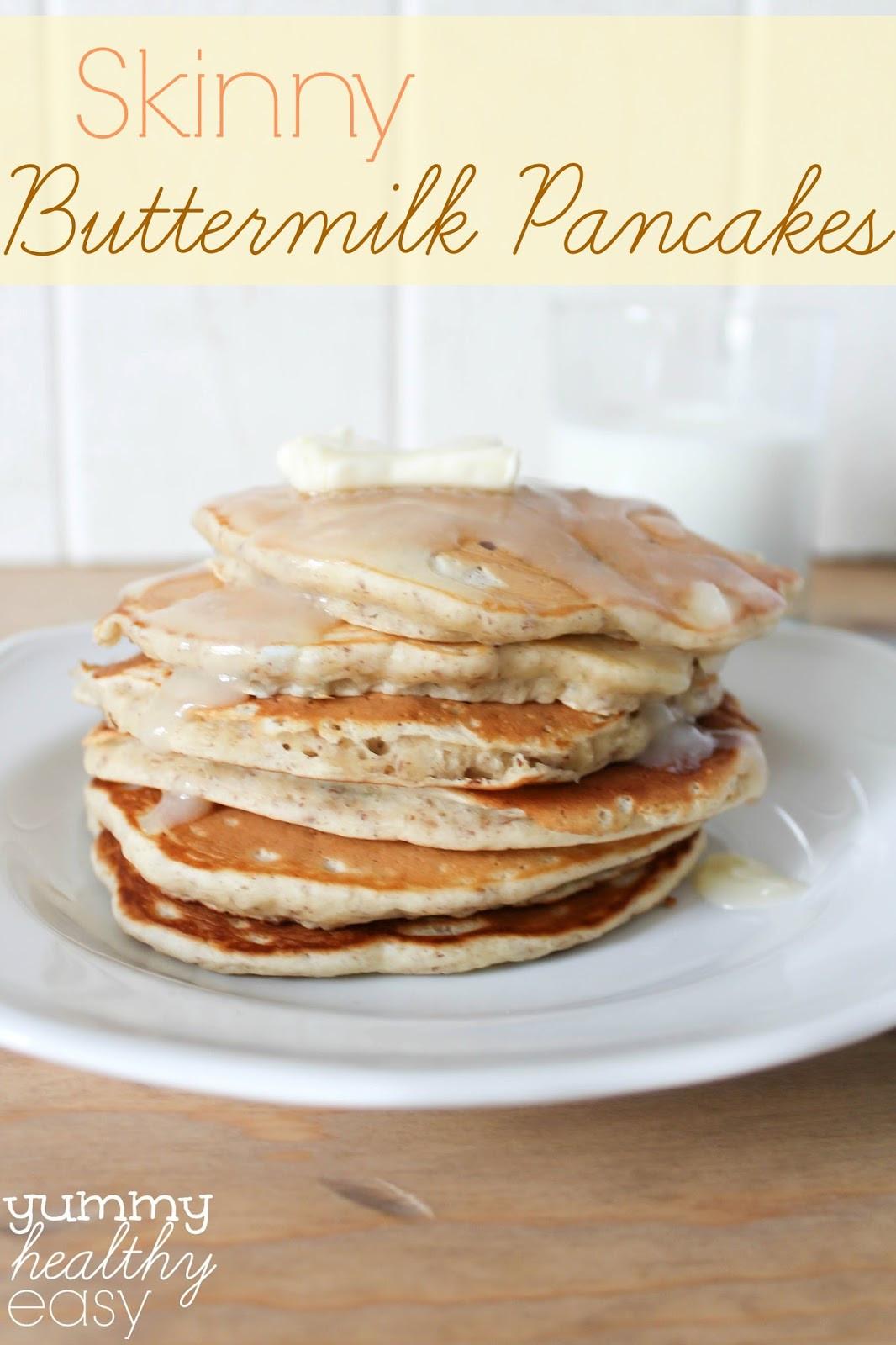 Healthy Buttermilk Pancakes  Skinny Buttermilk Pancakes Yummy Healthy Easy