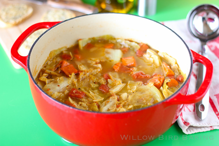 Healthy Cabbage Soup  Light and Healthy Cabbage Soup with Easy Cheese Toasts