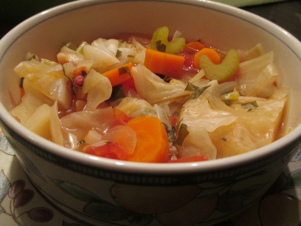 Healthy Cabbage Soup  Get Back on Track Healthy Cabbage Soup
