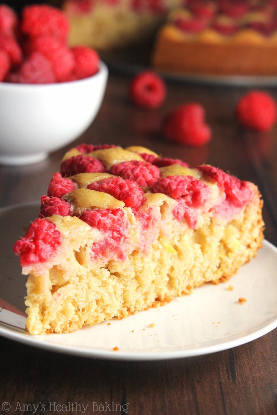 Healthy Cake Recipe  Simple Raspberry Lemon Cake
