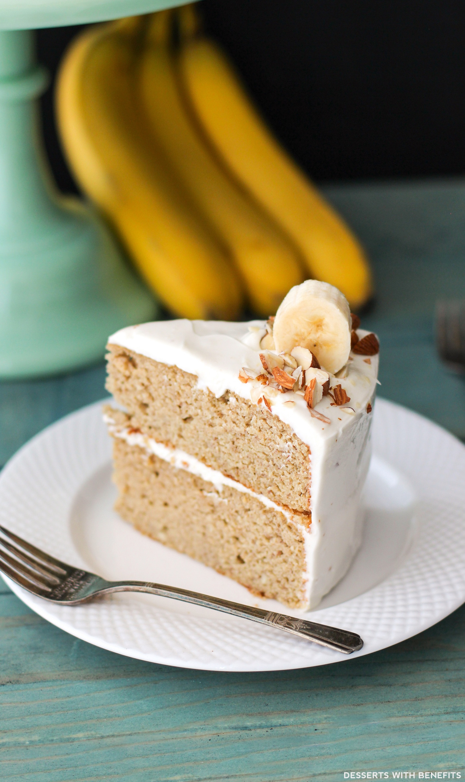 Healthy Cake Recipes  Gluten Free Healthy Banana Cake with Cream Cheese Frosting