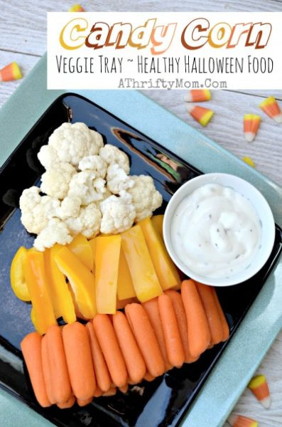 Healthy Candy Snacks  Healthy Halloween Party Snacks Candy Corn Veggie Tray