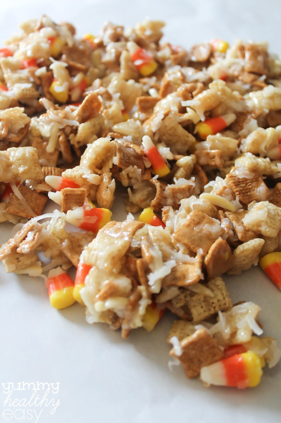 Healthy Candy Snacks  Candy Corn Cereal Snack Mix Yummy Healthy Easy