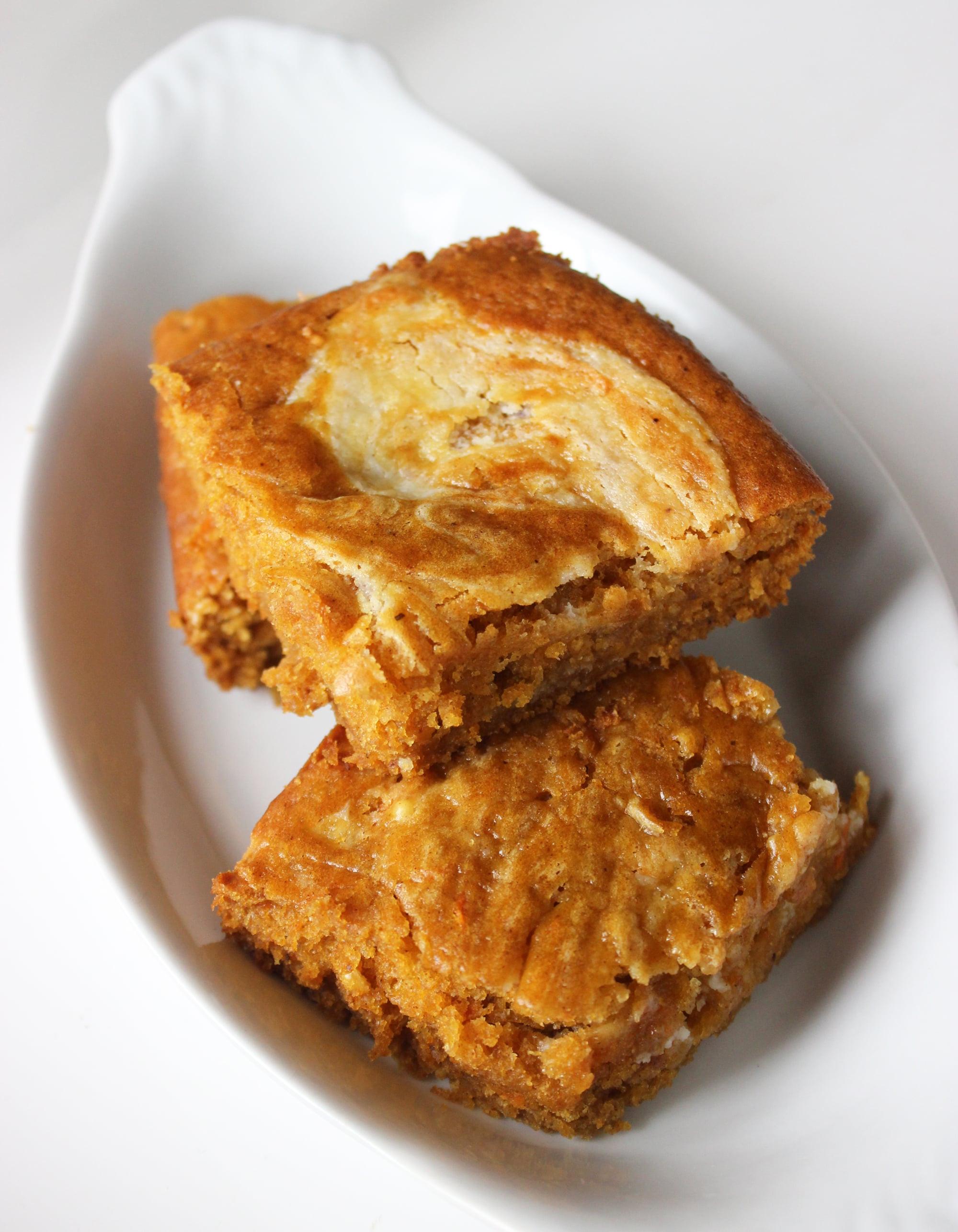 Healthy Canned Pumpkin Dessert Recipes  Healthy Dessert Pumpkin Carrot Bars With Cream Cheese