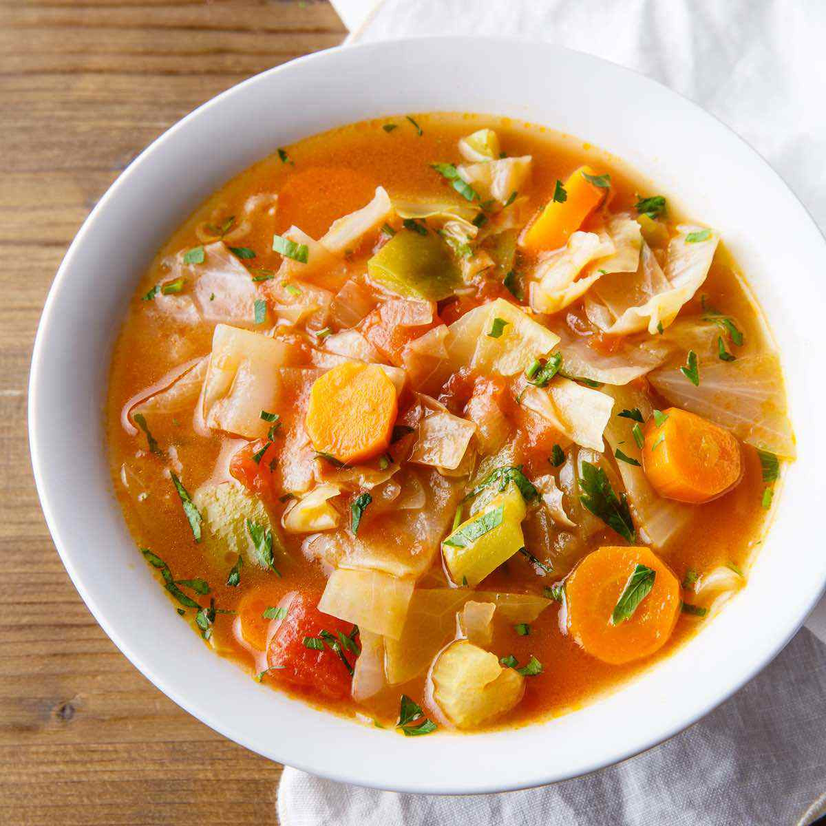 Healthy Canned Soups For Weight Loss  Cabbage Weight Loss Soup Cozy forting and Nutritious