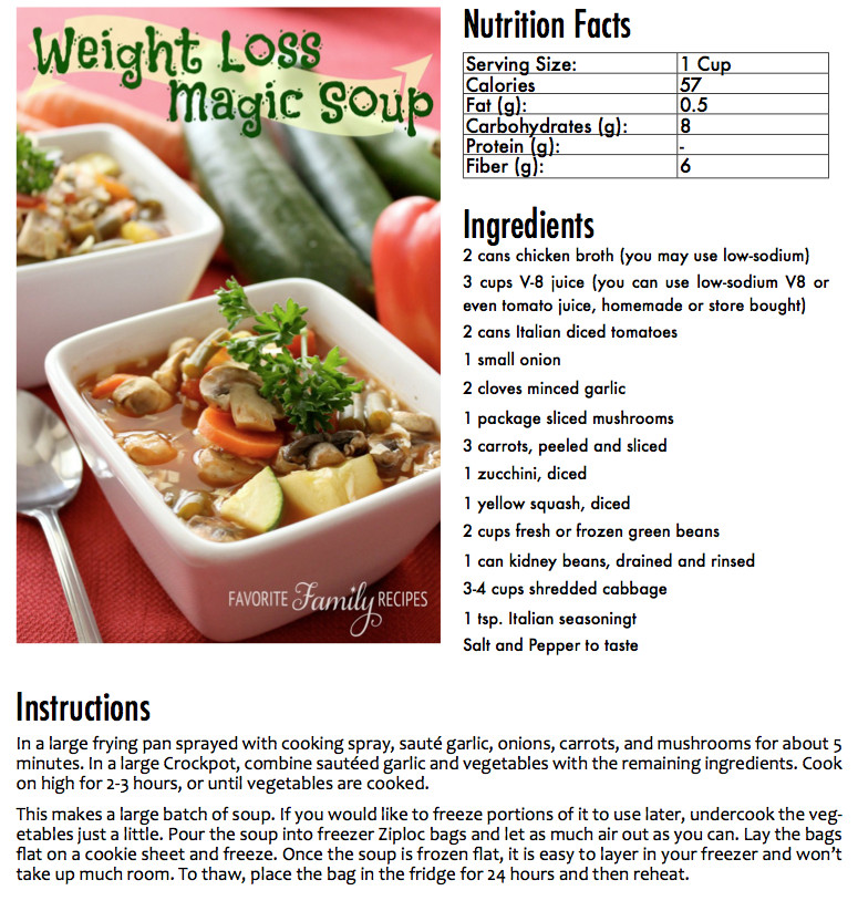 Healthy Canned Soups For Weight Loss  Weight Loss Soup Book Sample Page Recipes