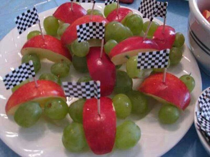 Healthy Car Snacks  Cute race car snack noms Pinterest