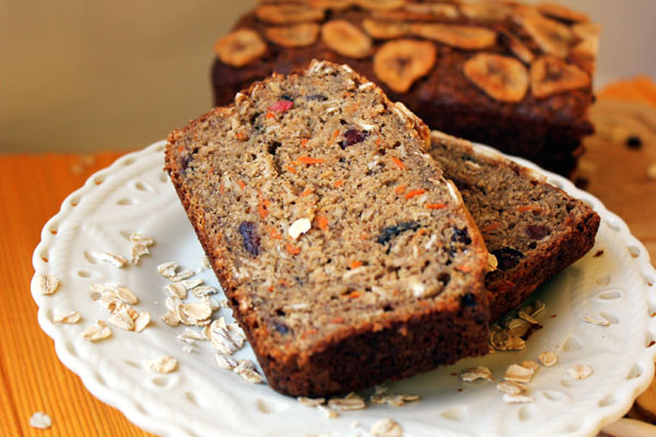 Healthy Carrot Bread  Healthy Banana Carrot Bread with Cranberries