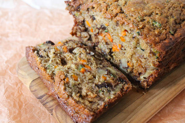Healthy Carrot Bread  Zucchini Carrot Banana Bread Confessions of a Chocoholic