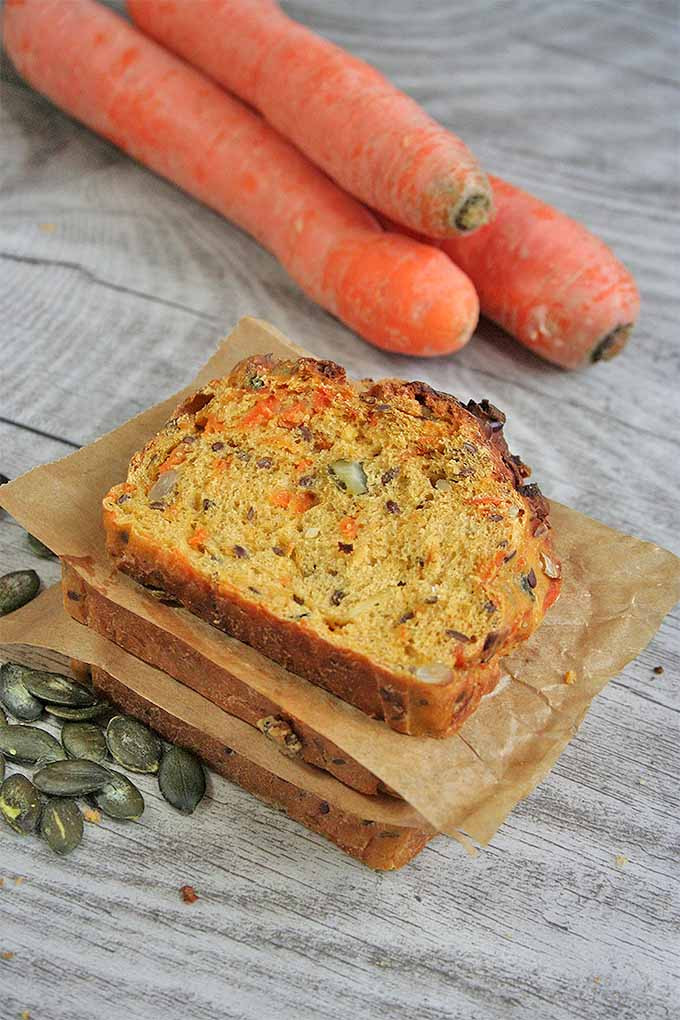 Healthy Carrot Bread  Three Seed Multigrain Carrot Bread for Healthy Snacking