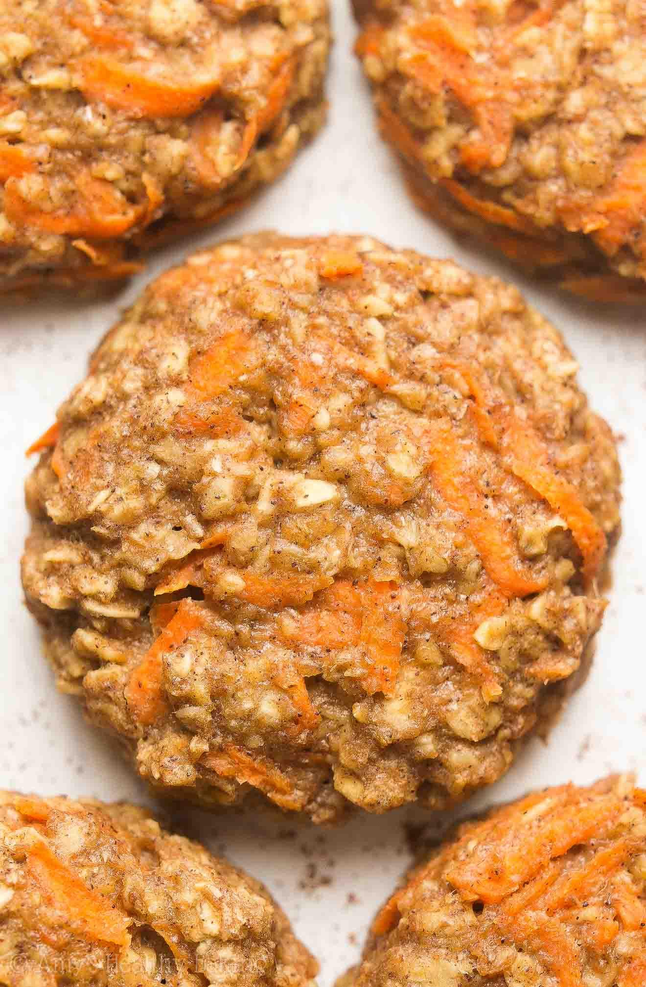 Healthy Carrot Cake Cookies  Healthy Carrot Cake Oatmeal Breakfast Cookies