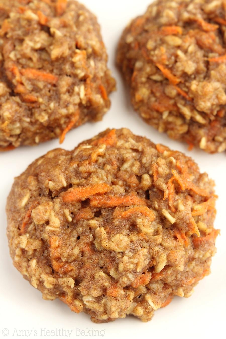 Healthy Carrot Cake Cookies  Carrot Cake Oatmeal Cookies