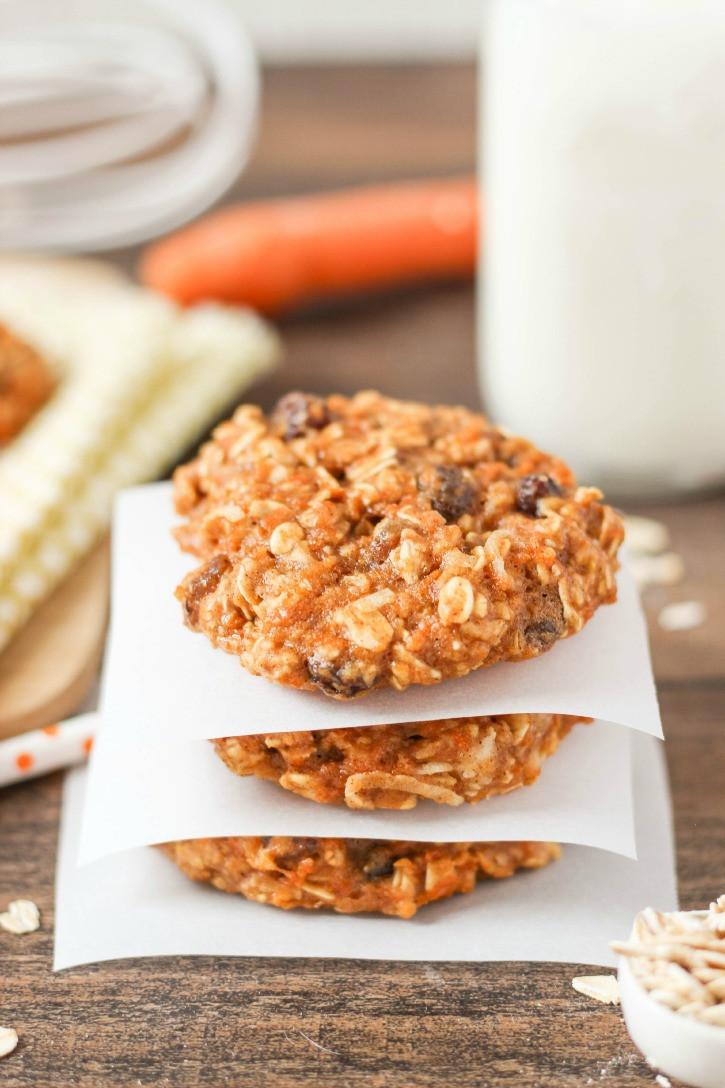Healthy Carrot Cake Cookies  Healthy Chocolate Chunk Banana Oatmeal Cookies