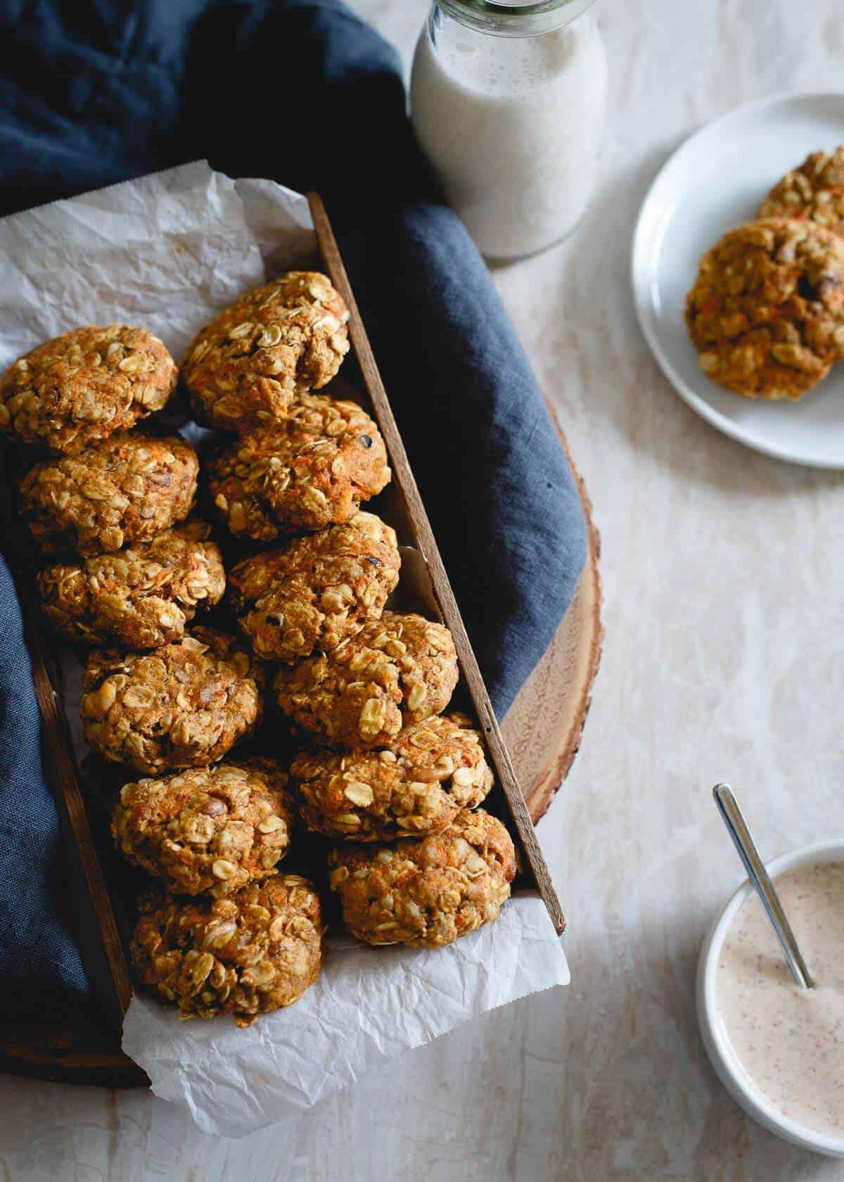 Healthy Carrot Cake Cookies  Carrot cake cookies