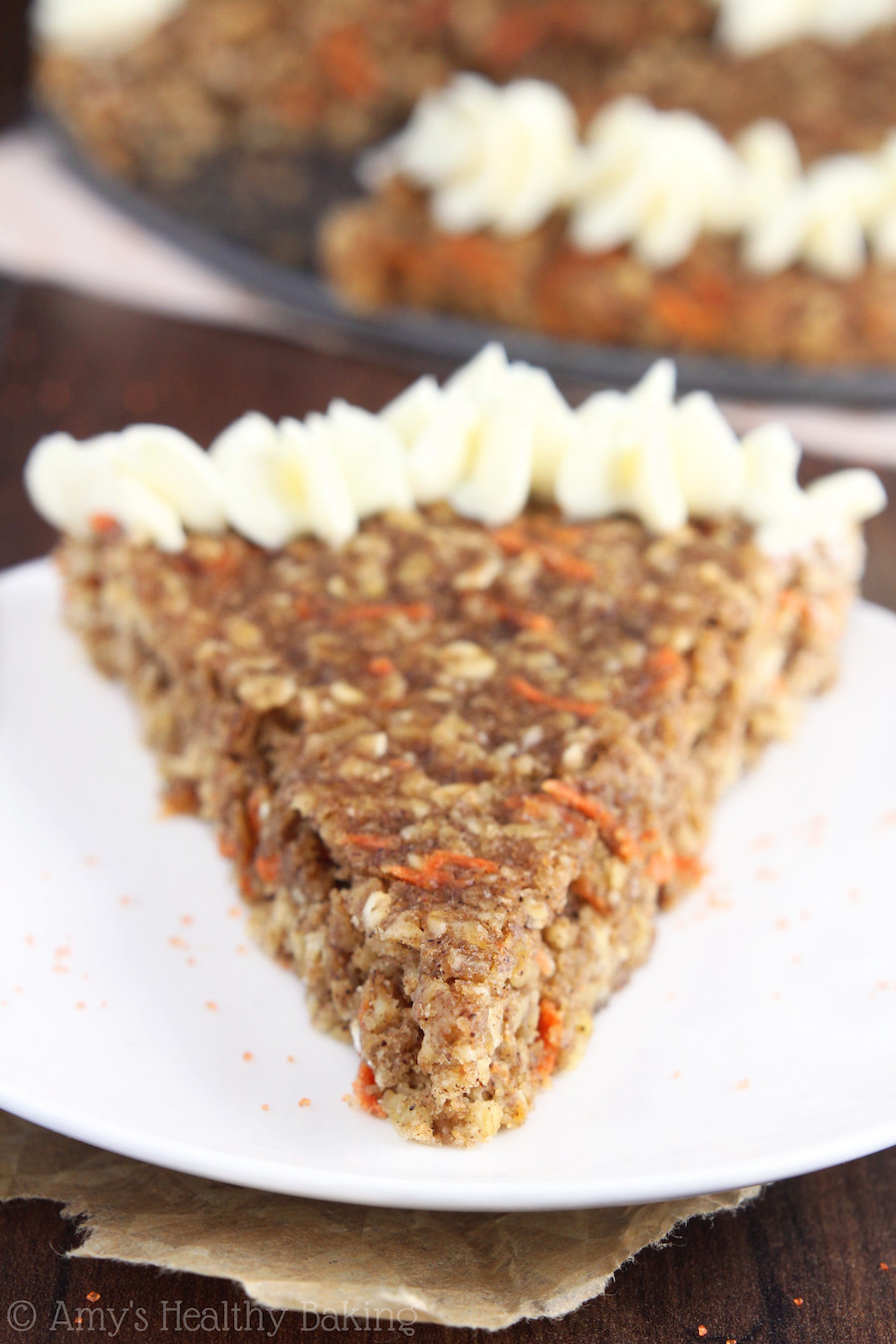 Healthy Carrot Cake Oatmeal  Carrot Cake Oatmeal Cookie Cake