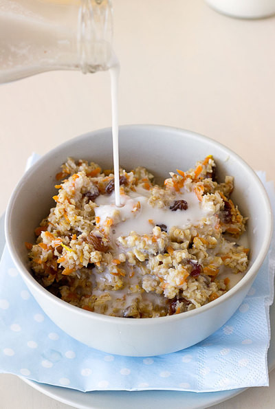 Healthy Carrot Cake Oatmeal  Secretly Healthy Carrot Cake Oatmeal