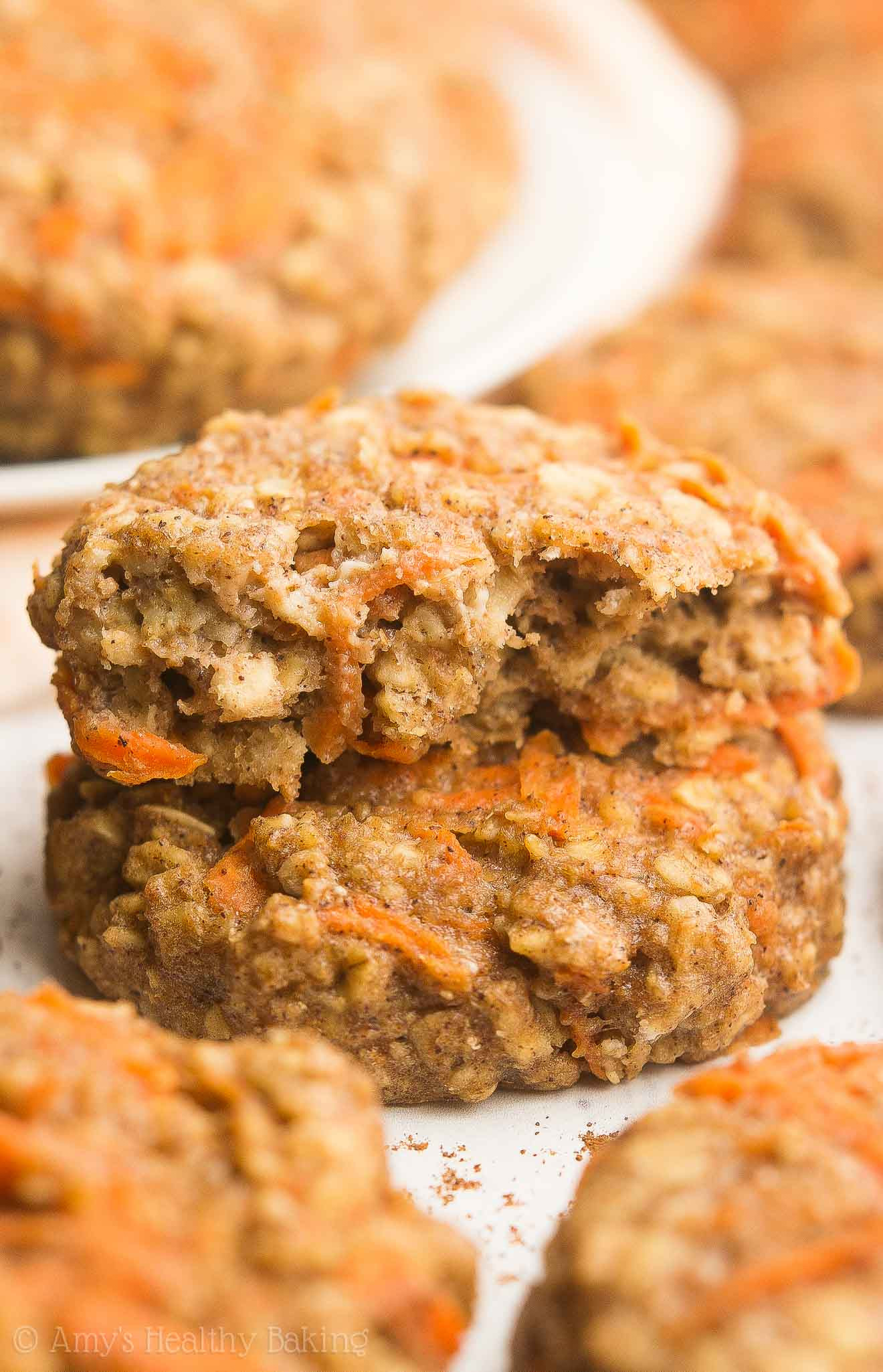 Healthy Carrot Cake Oatmeal  Healthy Carrot Cake Oatmeal Breakfast Cookies