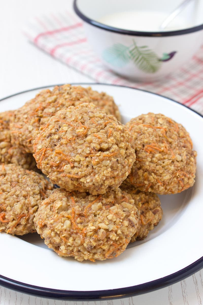 Healthy Carrot Cake Oatmeal  Carrot Cake Oatmeal Cookies Natalie s Happy Health