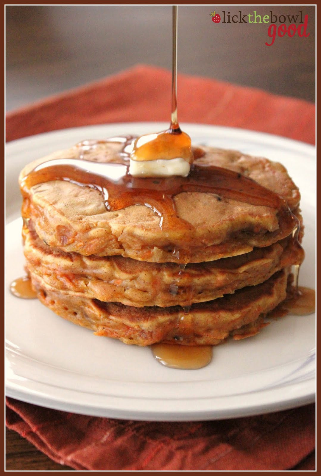 Healthy Carrot Cake Pancakes  Lick The Bowl Good Carrots For Breakfast Yes