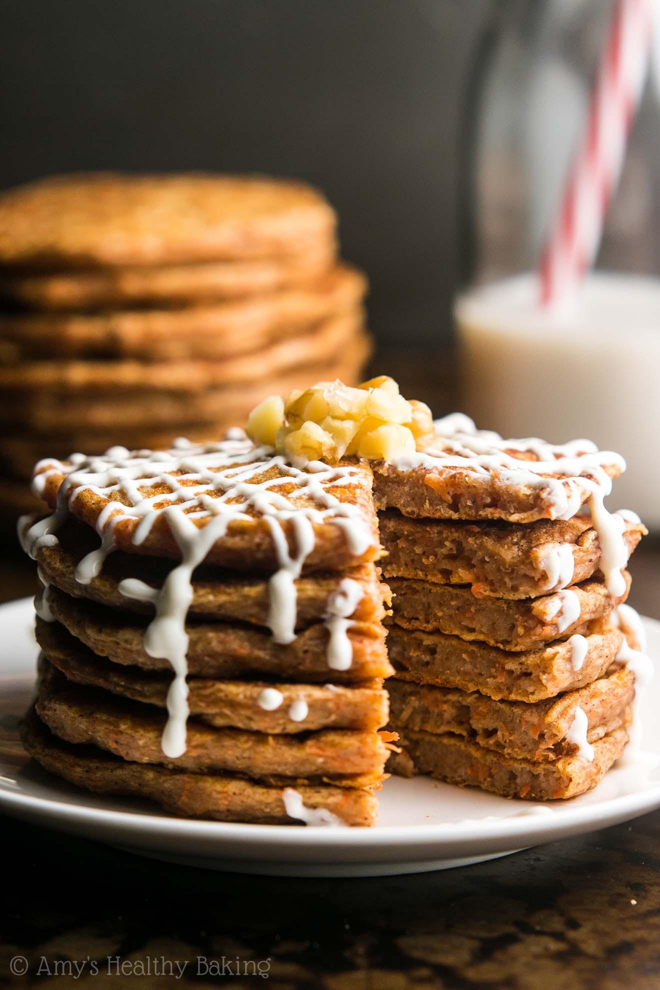 Healthy Carrot Cake Pancakes  Carrot Cake Pancakes