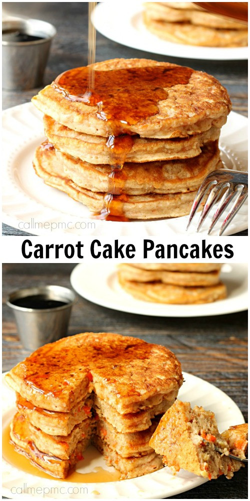 Healthy Carrot Cake Pancakes  Carrot Cake Pancakes Call Me PMc