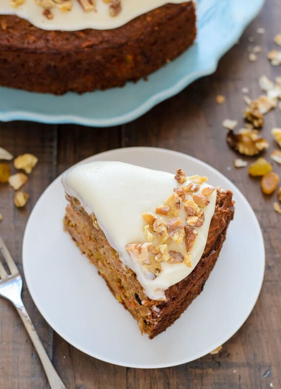 Healthy Carrot Cake Recipe  Healthy Carrot Cake with Light Cream Cheese Frosting
