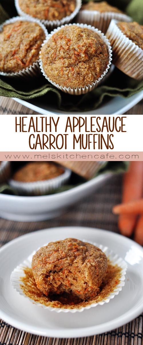 Healthy Carrot Cake Recipe With Applesauce  Healthy Applesauce Carrot Muffins a k a Carrot Cake