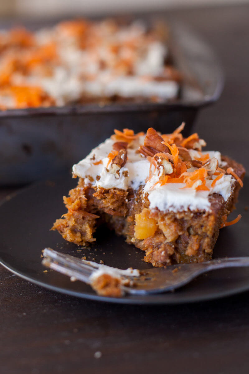 Healthy Carrot Cake Recipe With Pineapple  Super Moist Healthy Carrot Cake Recipe