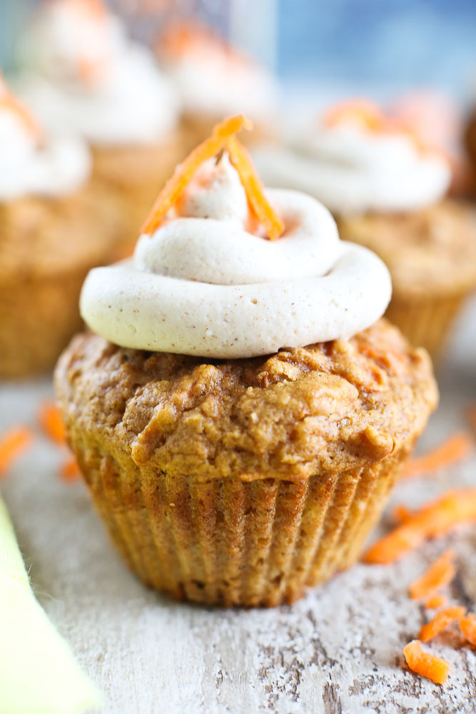 Healthy Carrot Cupcakes  Healthy Carrot Cake Cupcakes with Cream Cheese Frosting