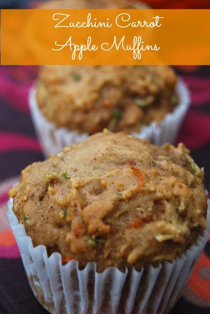 Healthy Carrot Recipes  Zucchini Carrot Apple Muffins Recipe