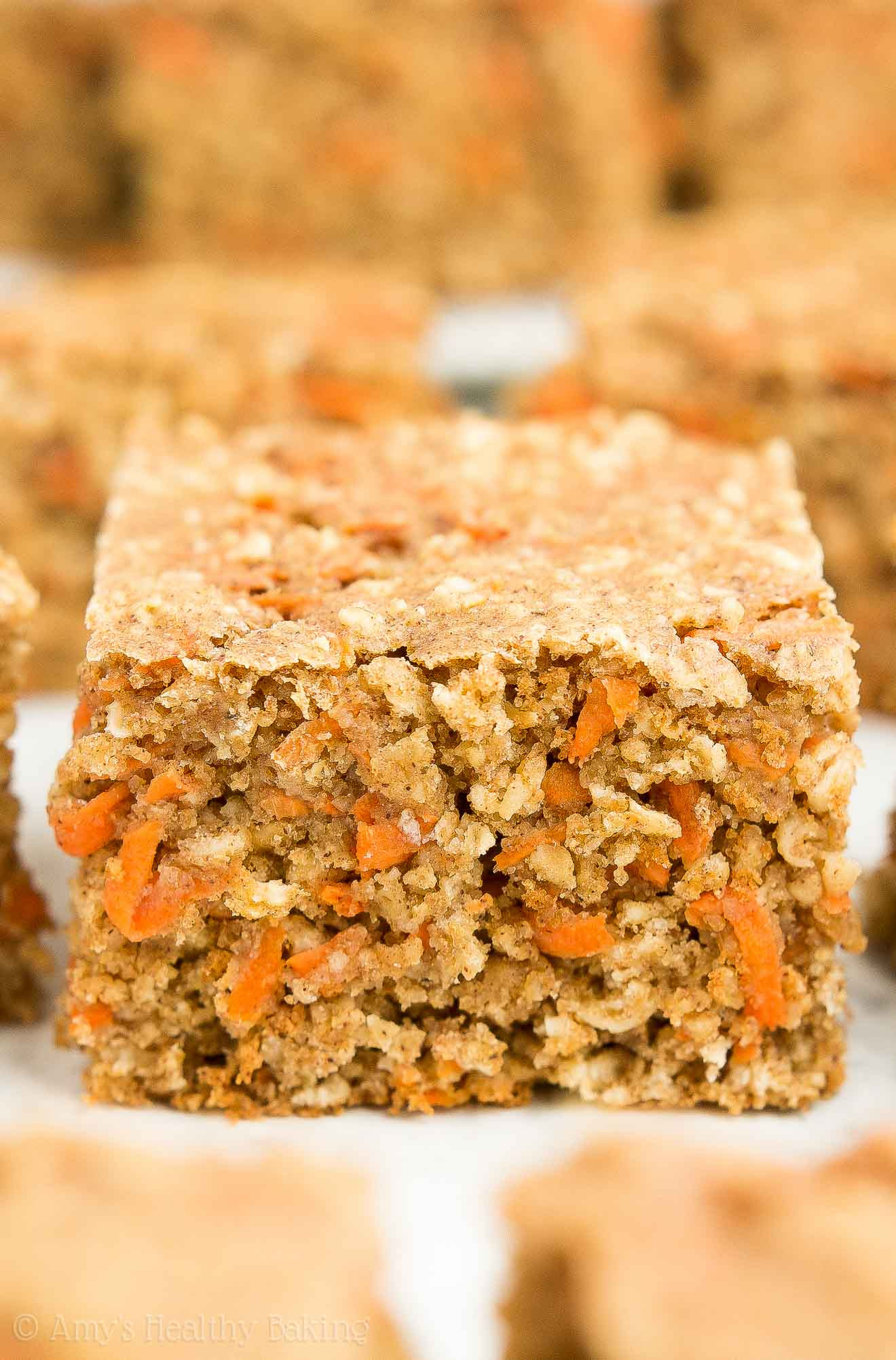 Healthy Carrot Snacks  Healthy Carrot Cake Oatmeal Snack Cake