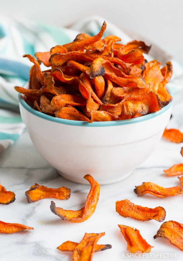 Healthy Carrot Snacks  Healthy Baked Carrot Chips A Spicy Perspective