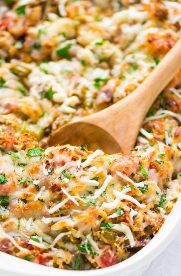 Healthy Casserole Recipes With Ground Turkey  Healthy Spaghetti Squash Casserole with ground turkey
