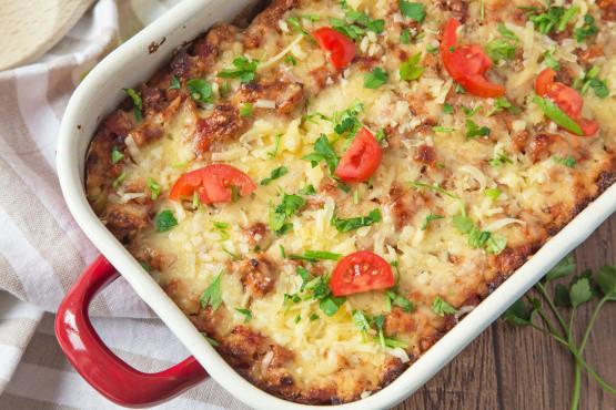 Healthy Casserole Recipes With Ground Turkey  Quicky Ground Turkey Beef Casserole Recipe Genius Kitchen