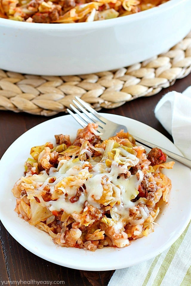 Healthy Casseroles With Ground Beef  Beef Cabbage Roll Casserole Yummy Healthy Easy
