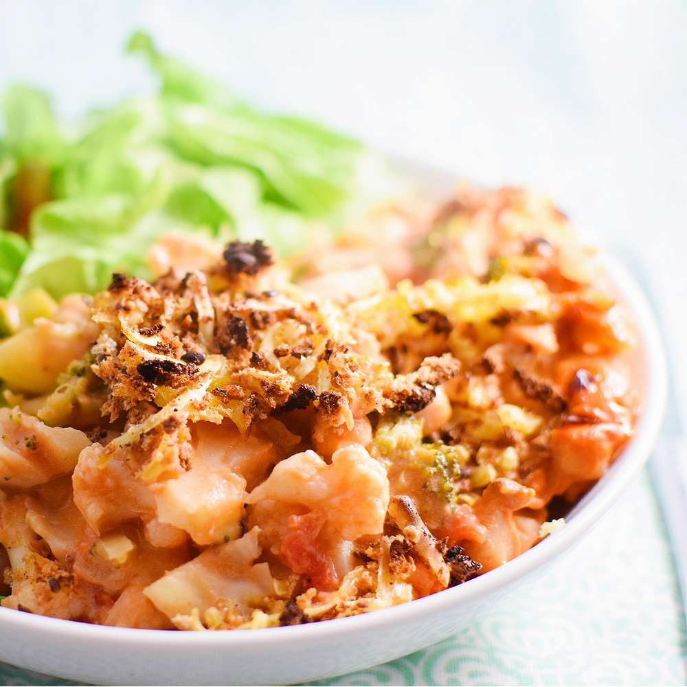 Healthy Cauliflower Casserole  Healthy Chickpea & Cauliflower Casserole Recipe Vegan