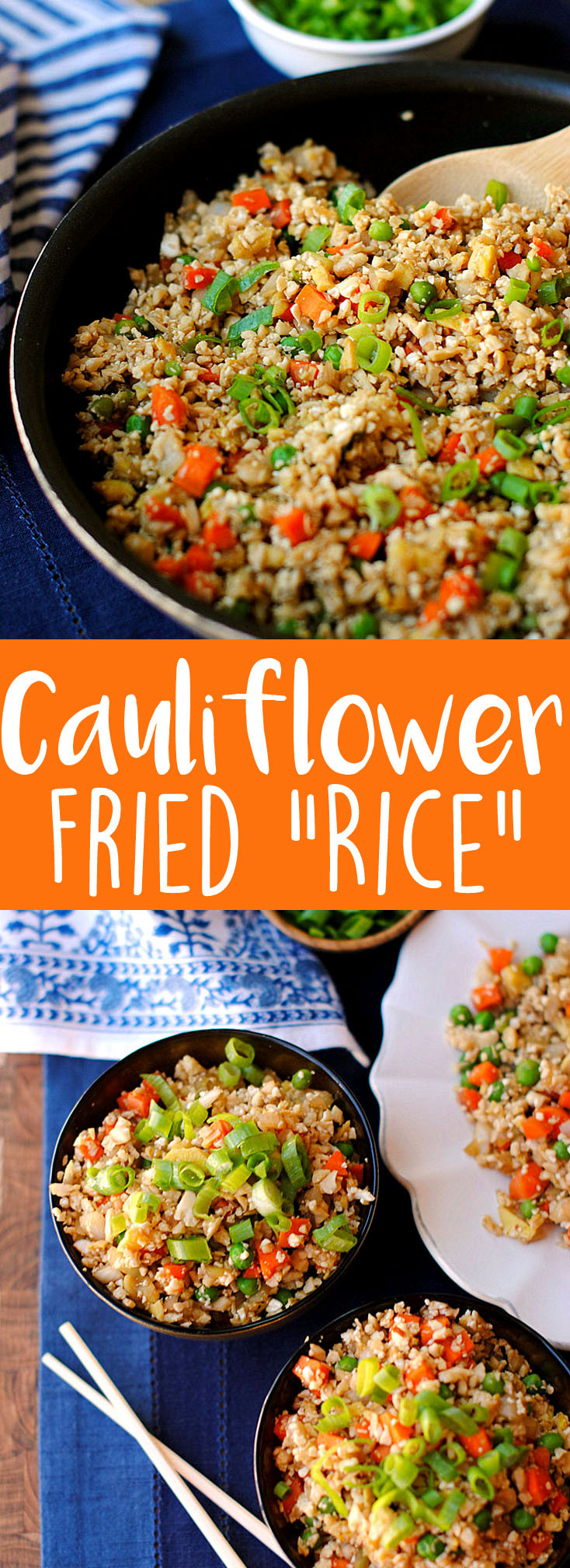 Healthy Cauliflower Fried Rice  Healthy Cauliflower Fried Rice Eat Yourself Skinny