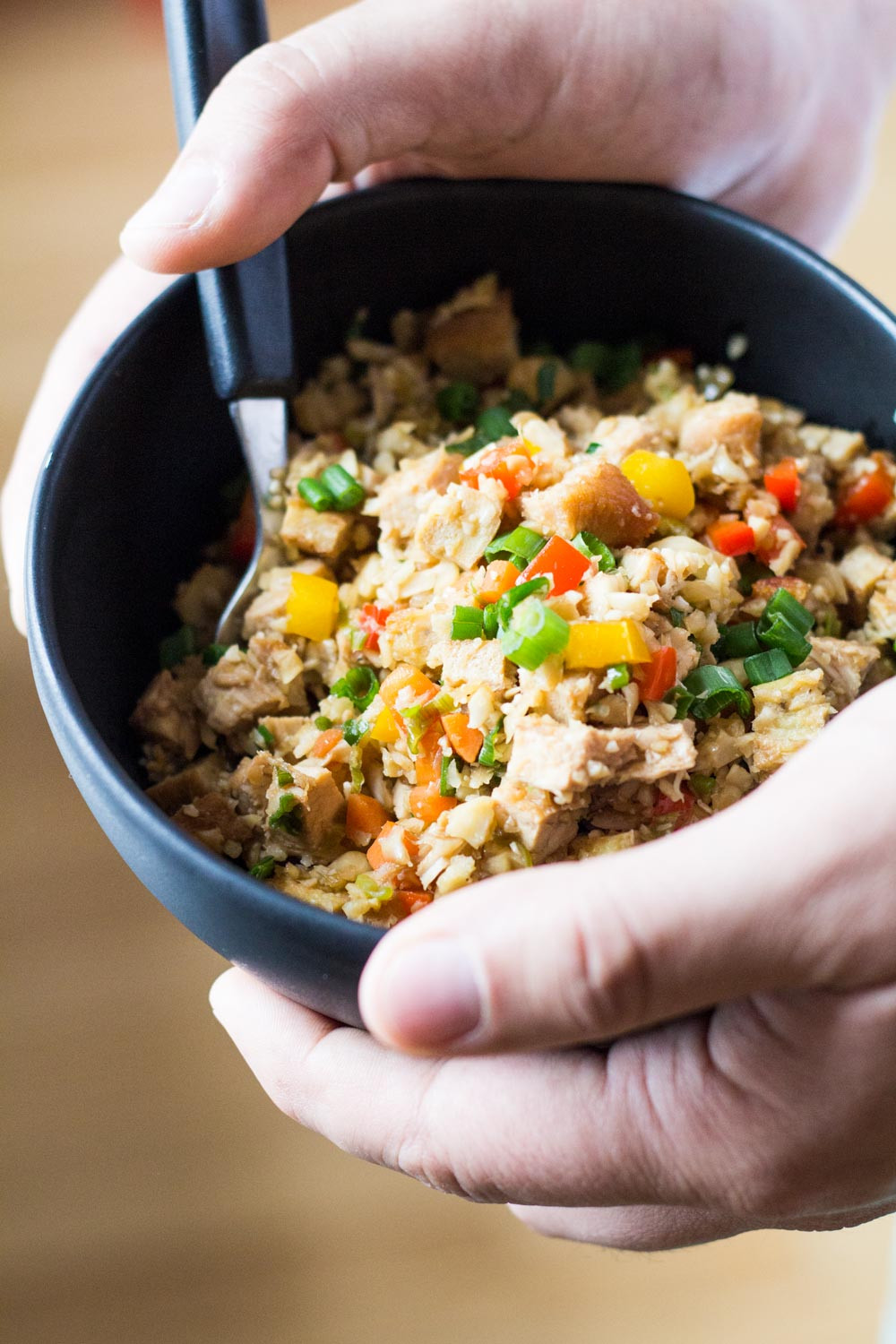 Healthy Cauliflower Fried Rice  Cauliflower Fried Rice Green Healthy Cooking
