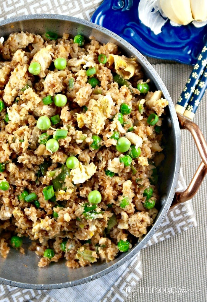"Healthy Cauliflower Fried Rice  Easy Cauliflower Fried ""Rice"""