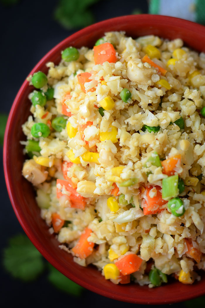 Healthy Cauliflower Fried Rice  23 Vegan Flexible Dieting Meal and Snack Ideas