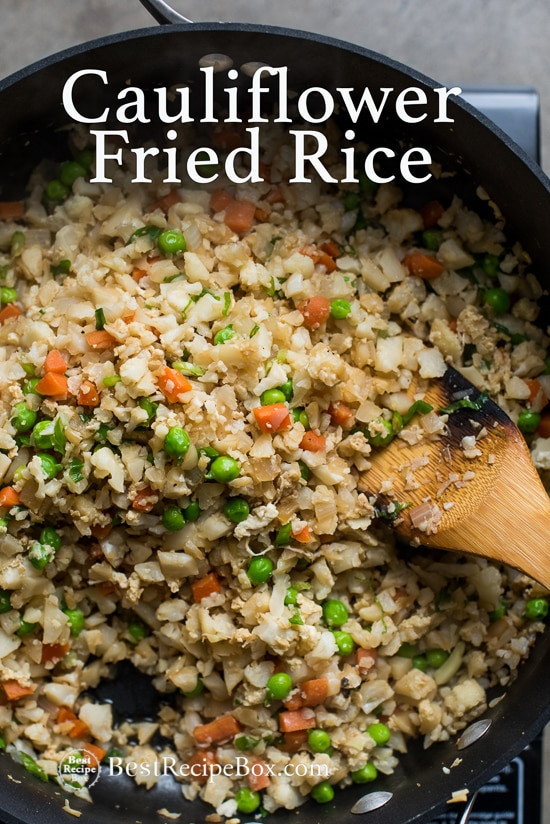 Healthy Cauliflower Fried Rice  Cauliflower Fried Rice Recipe