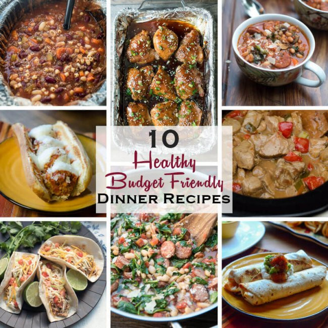 Healthy Cheap Dinner Ideas  10 Healthy Dinner Recipes on a Bud Valerie s Kitchen