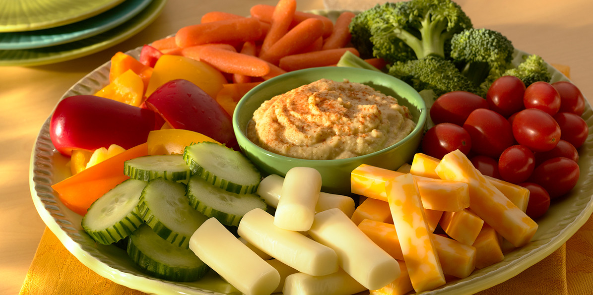 Healthy Cheese Snacks  Ve able and Hummus Platter