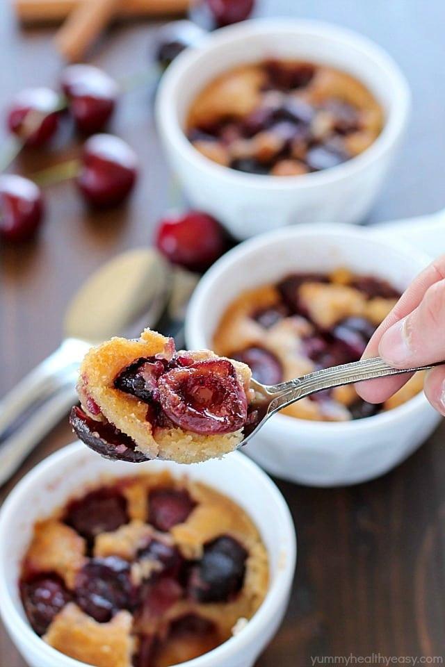 Healthy Cherry Dessert  Mini Cherry Cobbler Recipe Yummy Healthy Easy
