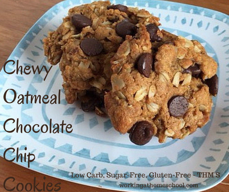 Healthy Chewy Chocolate Chip Cookies  Trim Healthy Mama Chewy Chocolate Chip Cookies